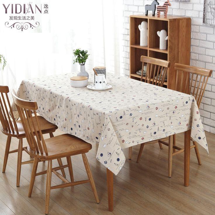 Simple Style Table Cloth Printed sailboat TableCloth New Rectangular Modern Tablecloth Wedding Decoration manteles para mesa #Affiliate