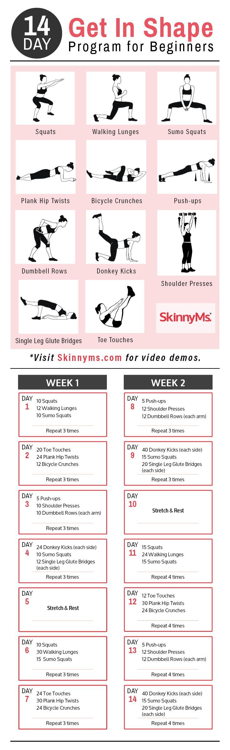 14-Day Get In Shape Program for Beginners