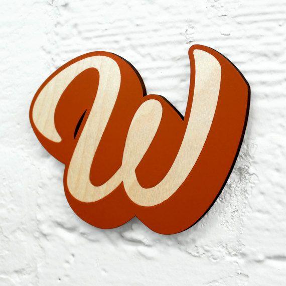 Alfabet Letter hout W - aangepaste lettertype, kleur, grootte.  Naam tekenen met houten alfabet teken, houten Letter, houten alfabet teken, houten teken
