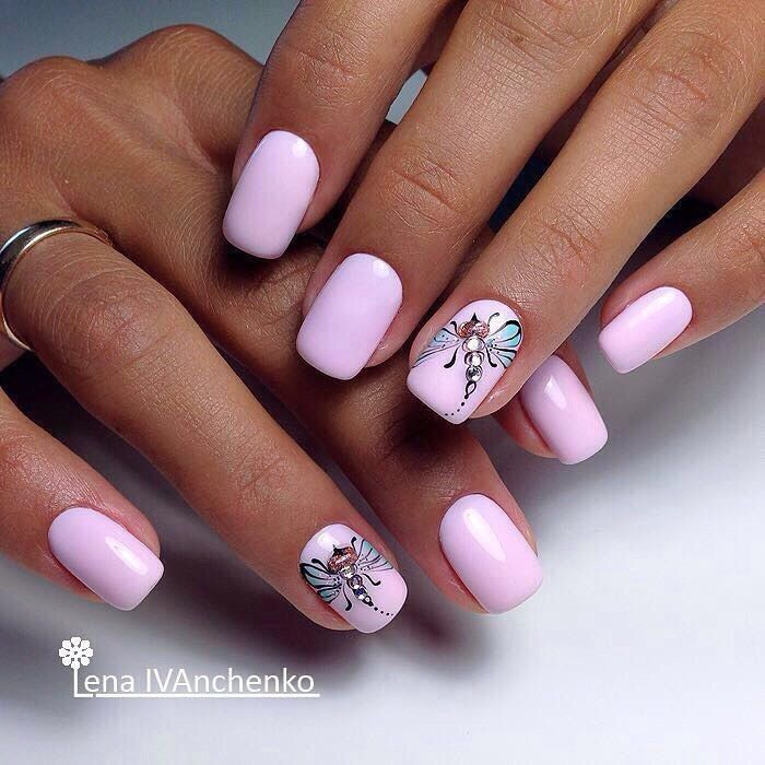 Beautiful nails 2017, Beautiful pink nails, Bright summer nails, Evening nails…