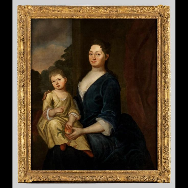 Portrait of Elizabeth Todd Seaton Moore (Mrs. Augustine Moore)(?-after 1742) and Child  Probably 1738-1740 Attributed to: Charles Bridges (1670-1747)