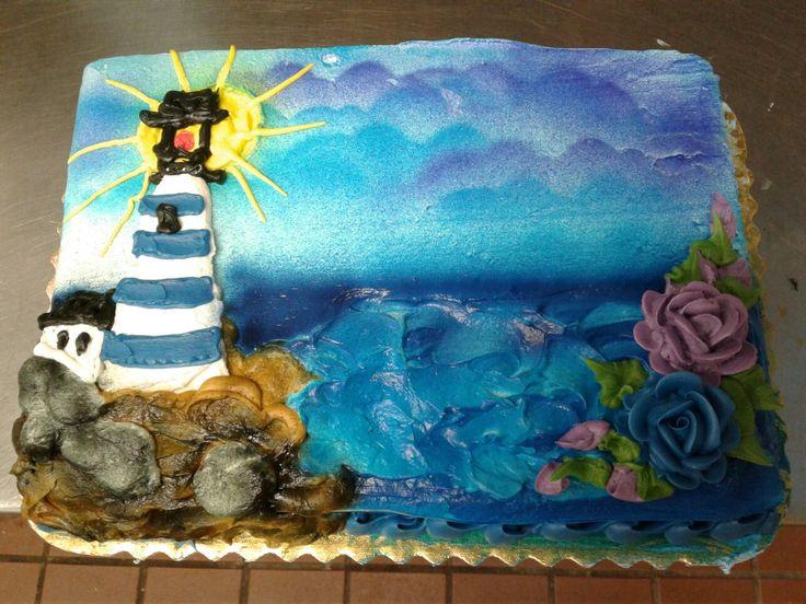 Lighthouse 2 cake by lisa