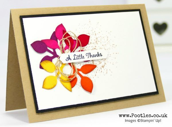 Stampin' Up! Demonstrator Pootles -One Big Meaning with a Leaf Punch and Touches of Texture