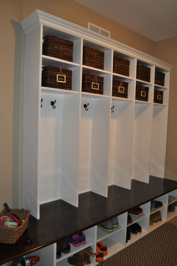 Mudroom Storage Do It Yourself : Best images about mudroom on pinterest entry coat