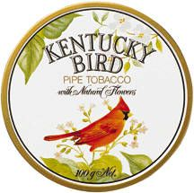 Scandinavian Tobacco Group (STG) - Kentucky Bird  A pipe tobacco with natural flowers. Mild Virginia and sun-cured Kentucky tobaccos, blended with natural flowers, create a new dimension for pipe smokers. A unique Concept symbolized by the beauty of the Cardinal - the official bird of Kentucky.