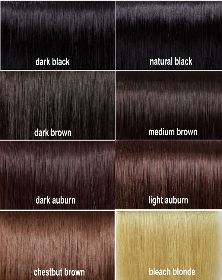 Beautiful Dark Brown Hair Color Chart
