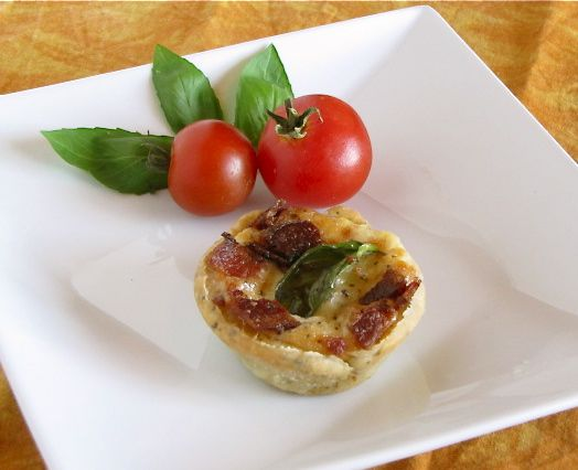 Bacon Tomato Basil Tarts from Miss in the Kitchen