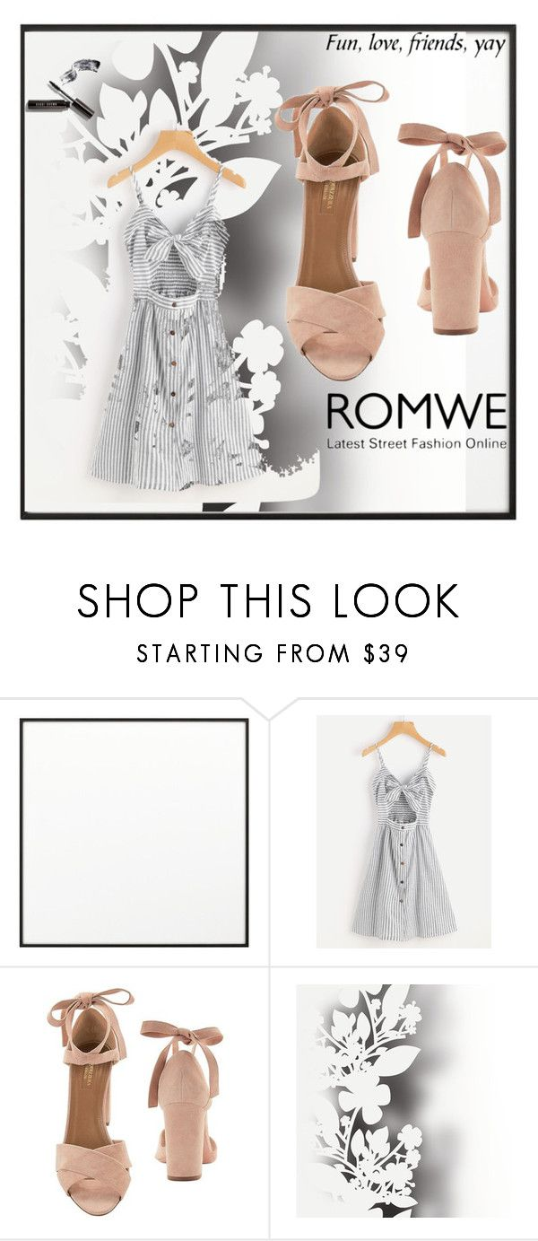 """Romwe"" by cristina123-i ❤ liked on Polyvore featuring By Lassen, Aquazzura, Élitis and Bobbi Brown Cosmetics"