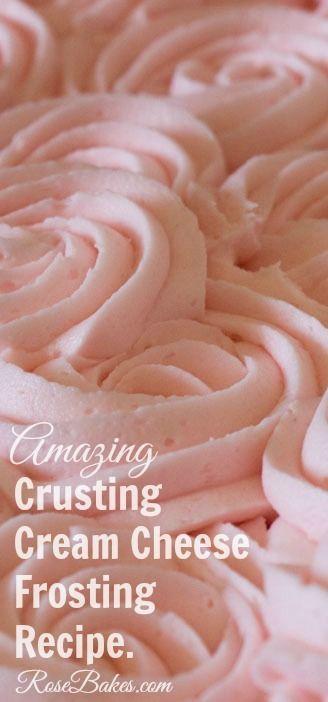 Crusting Cream Cheese Buttercream Frosting Recipe #icing