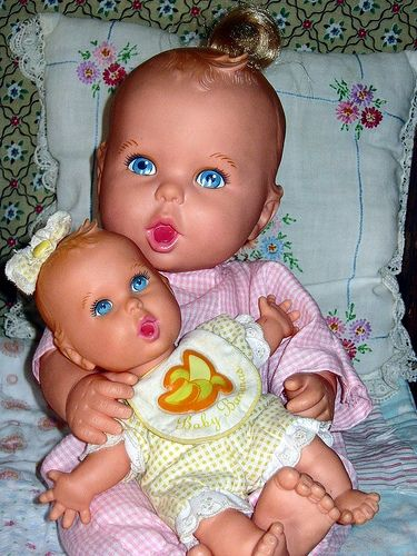 I rmbr me and my sister both had big her bet babies we took em everywhere and loved our babies lol