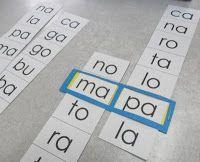 Material pedagógico hecho en casa: Formar palabras a partir de sílabas