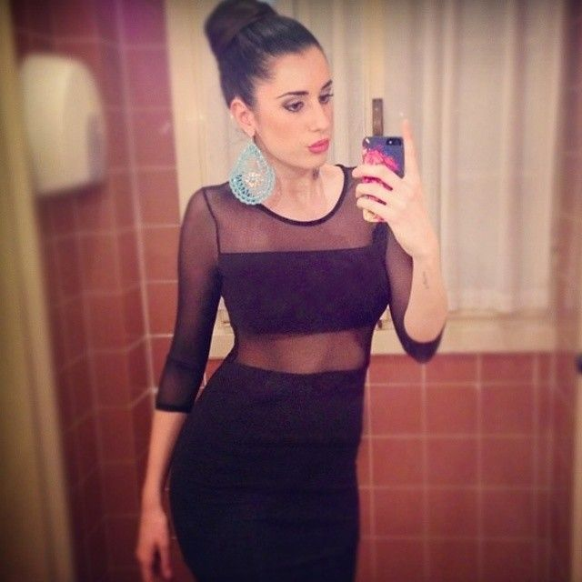 The stunning Valentina Vignali with Paul! #TwentyfiveSeven #ValentinaVignali #PaulNewman #paul #iphone5 #cover #black #selfie #brunette #italiangirl #basketball #player #evening #dress