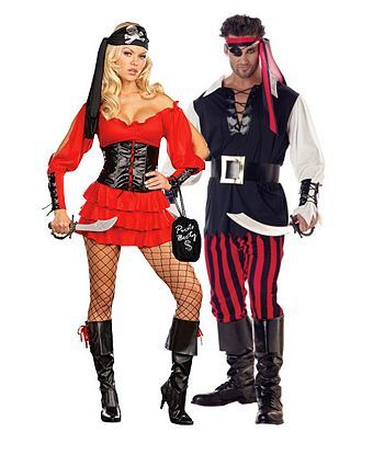 Pirate Wench Costume - Womens Couples Halloween Costumes ...