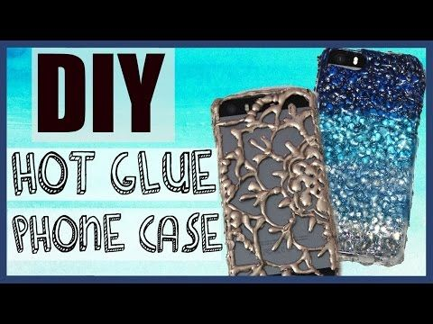 DIY Phone Case using ONLY HOT GLUE?! No clear phone case needed! - YouTube