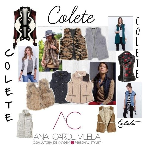 """""""Colete"""" by anacarolvilela on Polyvore featuring beleza, Old Navy, Patagonia, WearAll, Hollister Co. e plus size clothing"""