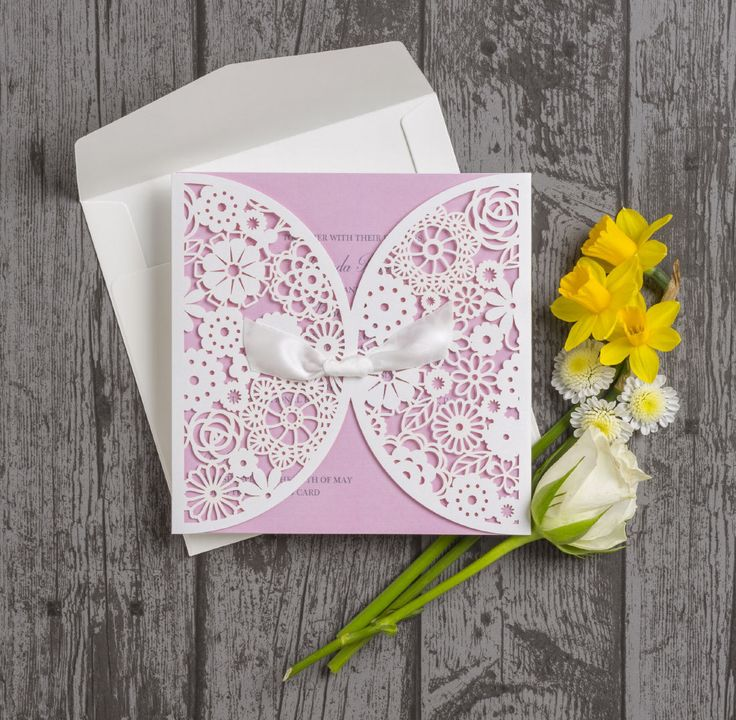 funny personal wedding card matter%0A Vintage lace laser cut personalised wedding invitations  Pink insert