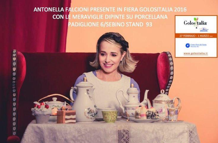 """Antonella Falcioni on Twitter: """"@Golositalia_ dipinto su porcellana area dim. Pad 7  Il 28 Febdalle 12.30 alle 14.30 e 1 Mardalle 13.30 alle 15.00 https://t.co/SIoP2wJ8Nn"""""""