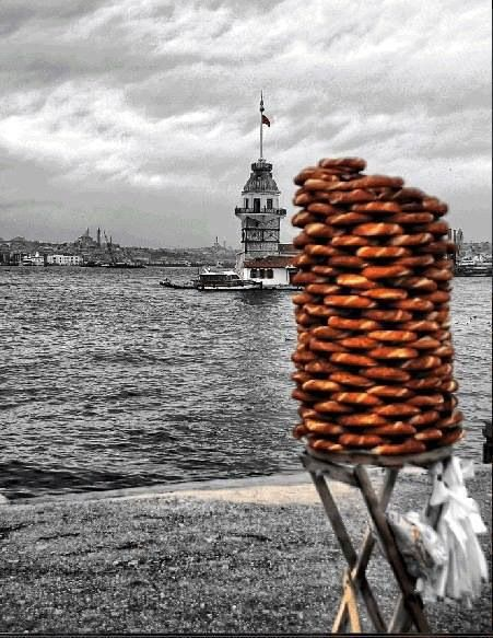 simit  Maiden Tower ... Istanbul Turkey  Get Informed with Worthy Readings. http://www.dailynewsmag.com
