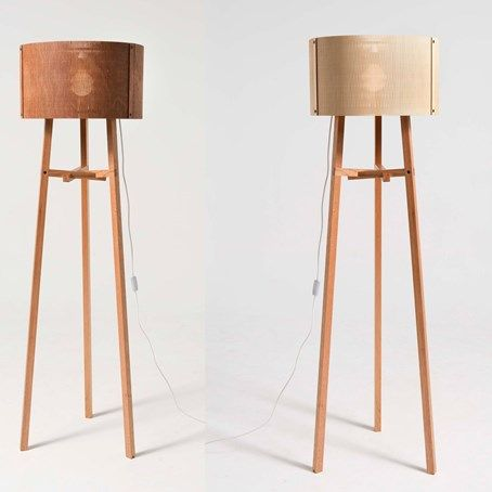 Moo Standing Light By Kenan Wang Moo Light Is Inspired By Traditional  Chinese Bamboo Curtain. It Is Cut By Laser From Rigid Ply Wood To Soft  Lampshade With ...