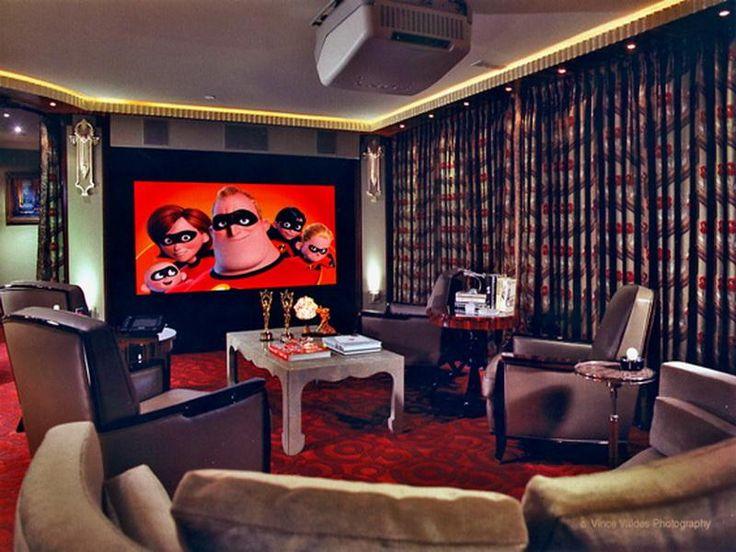 Inspirational Small Basement Home theater Ideas