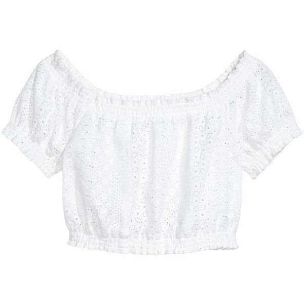Blouse with Eyelet Embroidery $17.99 ($18) ❤ liked on Polyvore featuring tops, blouses, shirts, cotton blouse, white blouses, smock blouse, embroidered top and embroidered cotton blouse