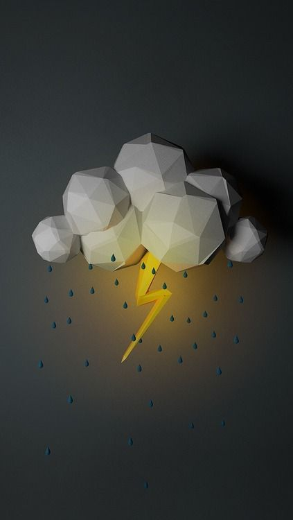 Storm made from polygons.