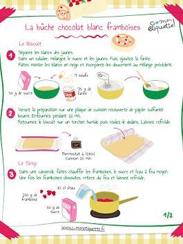 #recette cmonetiquette : la bûche chocolat blanc framboises