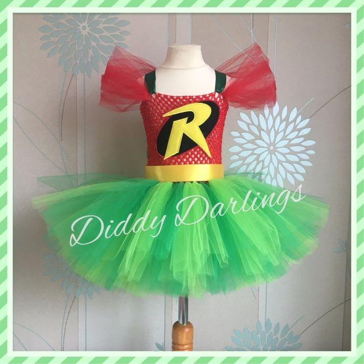New Robin Tutu Dress Party Fancy Halloween Xmas & Play Costume Batman Batgirl #DiddyDarlings #CasualFormalParty