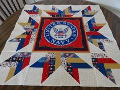 Several have asked how I created the recent Quilt of Valor  with the Navy  Military Seal/Emblem panel without using a specific pattern.    ...