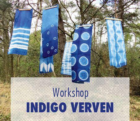 In deze workshop, gaan we met de plantaardige kleurstof Indigo een biologisch verfbad maken. Je maakt proeflapjes en we doen wat kleine experimenten met verschillende afbind technieken.