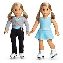 American Girl® Clothing: 2-in-1 Ice Skating Set + Charm - Lilly would love this (or any other modern clothes) for her American girl doll.