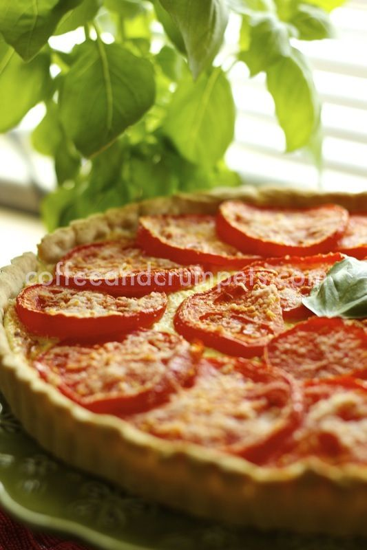 Herb and Tomato Cheese tart.. Basically my three favorite things