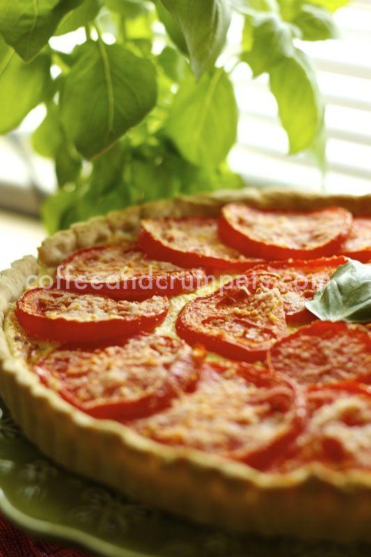 Herb and Tomato Cheese tart.. Basically my three favorite things