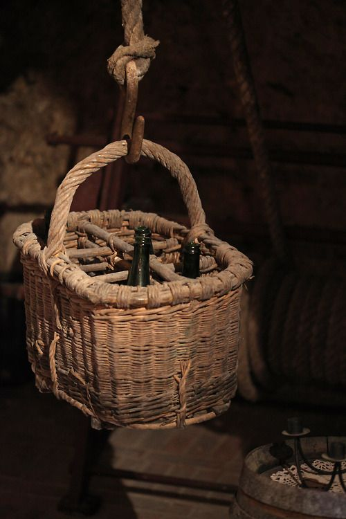 """**Must get one of these baskets in case i fall down the well.  Champagne 10…"""""""