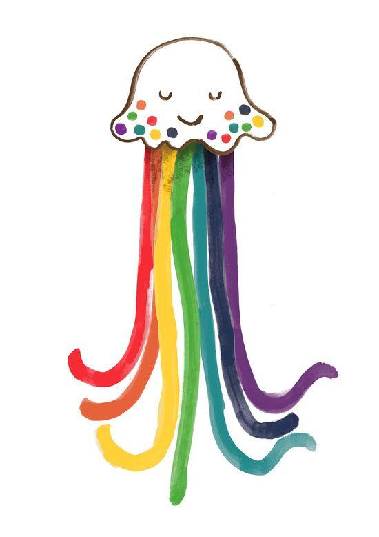 Poster   RAINBOW JELLYFISH von Budi Kwan   more posters at http://moreposter.de