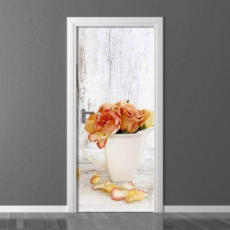 Fototapeta na drzwi - Róże| Photograph wallpaper for doors - Roses | 180PLN #drzwi  #dekoracja #róże #kwiaty #dom #mieszkanie #design #door_wallpaper #wallpaper #door_decor #home_decor #interior_decor #roses #roses_pattern #flowers