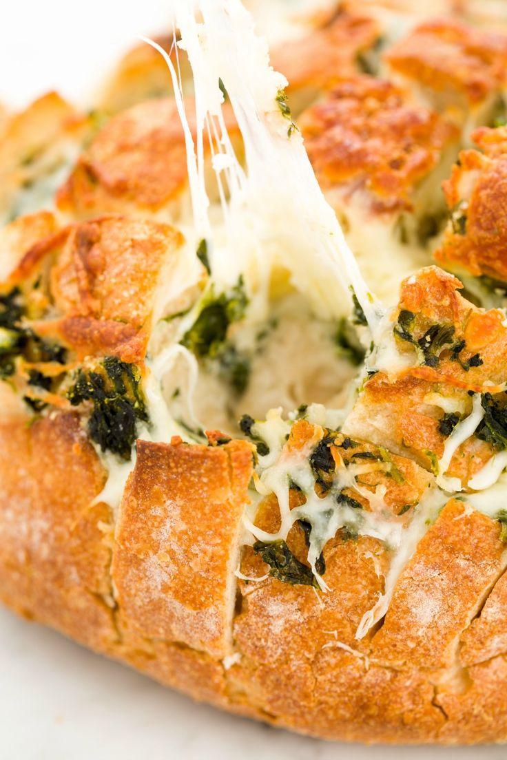 pull apart breads pull apart artichoke bread spinach dip pull apart ...