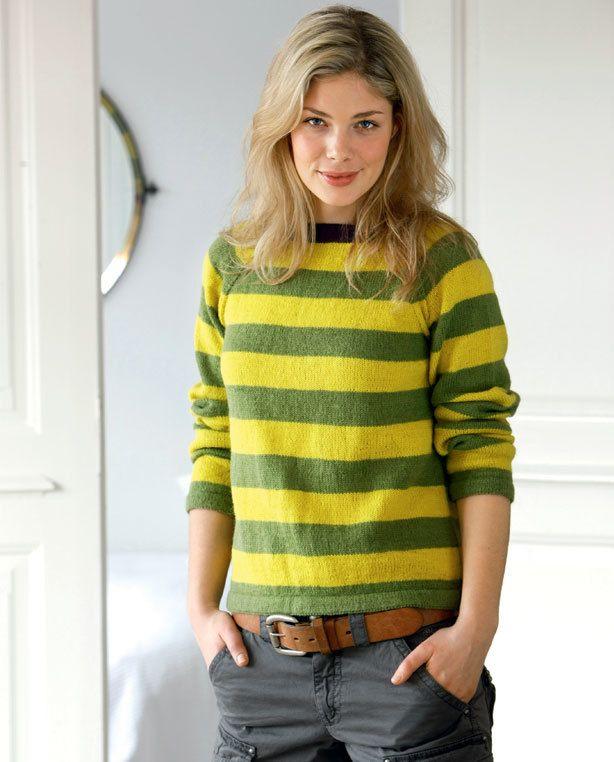 626f05ab5b4 Smart stribet bluse - Hendes Verden - ALT.dk   Strik   Men sweater ...