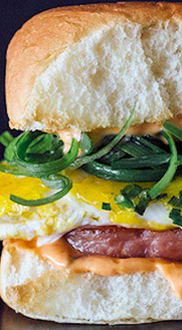 Spam and Eggs Breakfast Sandwich