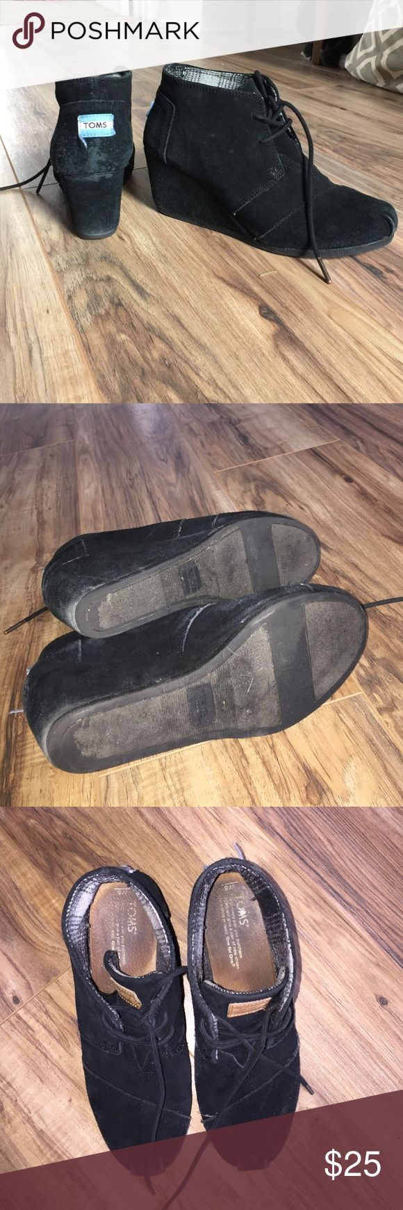 Toms desert wedges Used condition in toes and heels. Open to reasonable offers TOMS Shoes Wedges