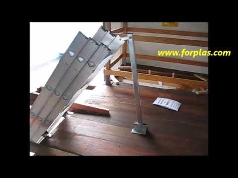 Instalação Escada Alçapão Alumínio