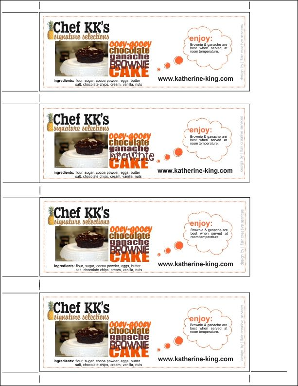 custom food label design