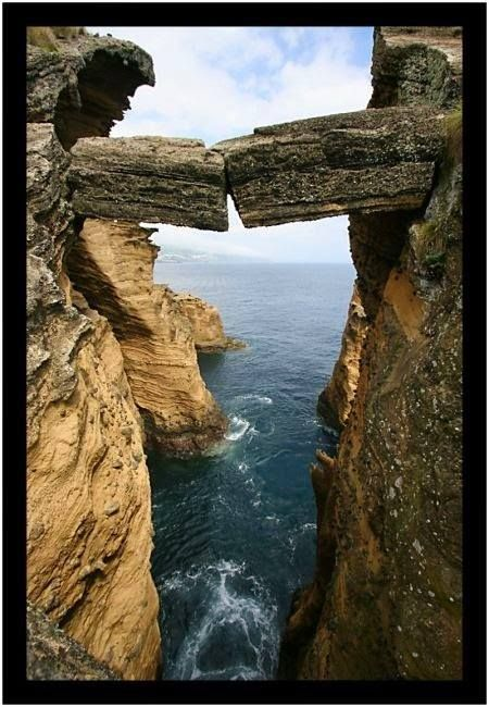 .Oops!  Natural bridge on a small island of the larger island of Sao Miguel in the Azores...