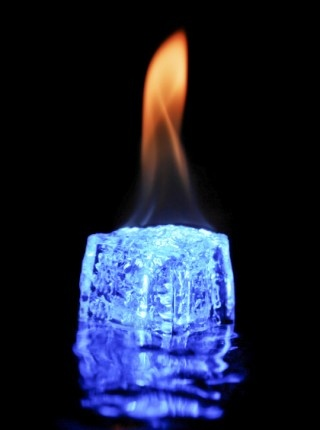 Fire and Ice love the blue in the ice