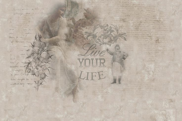 Writing vinyl wallpaper YOUR LIFE by GLAMORA