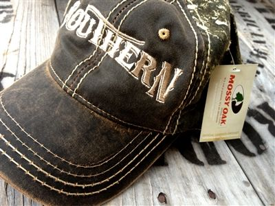 SOUTHERN - MOSSY OAK CAMO HAT unisex womens mens ball cap real tree $19 by The Southern Gals