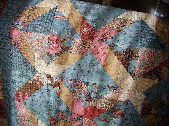 lap quilt quilted sofa throw quiltsy handmade by