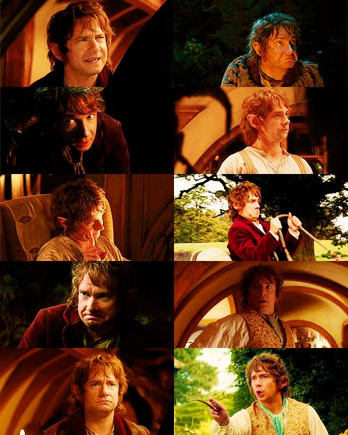 Those facial expression that are just purely Martin Freeman being adorable. - my favorite is the bottom left. Just a little bit sad when things aren't REALLY sad.