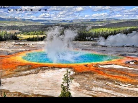 Yellowstone national park favorite destination to millions of visitors e...