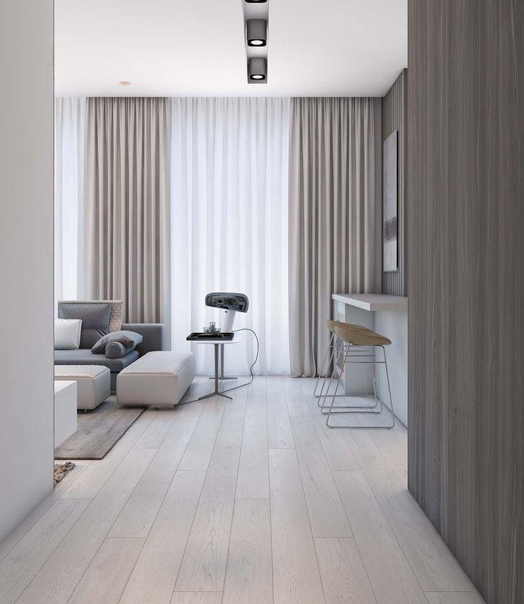 Simple Modern Apartment With Pastel Colors Looks So Cozy: Simple Appartement Moderne Avec Des Couleurs Pastel Semble